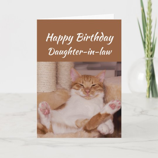 Happy Birthday Daughter In Law Celebrate Funny Cat Card