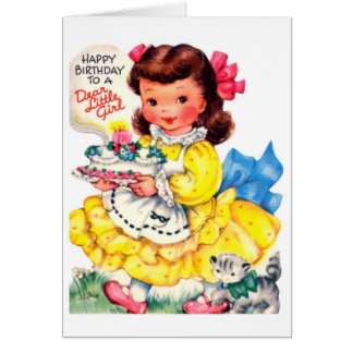 Happy Birthday - Dear Little Girl Card