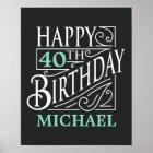 Happy Birthday design, decorative vintage style. Poster