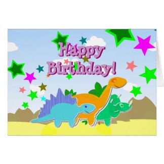 Happy Birthday Dinos Card