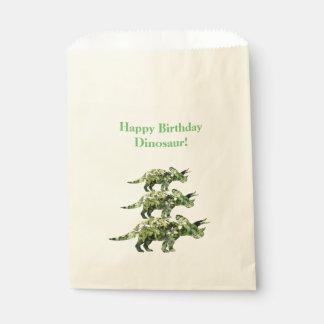 Happy Birthday Dinosaur Plants paper bag Favour Ba