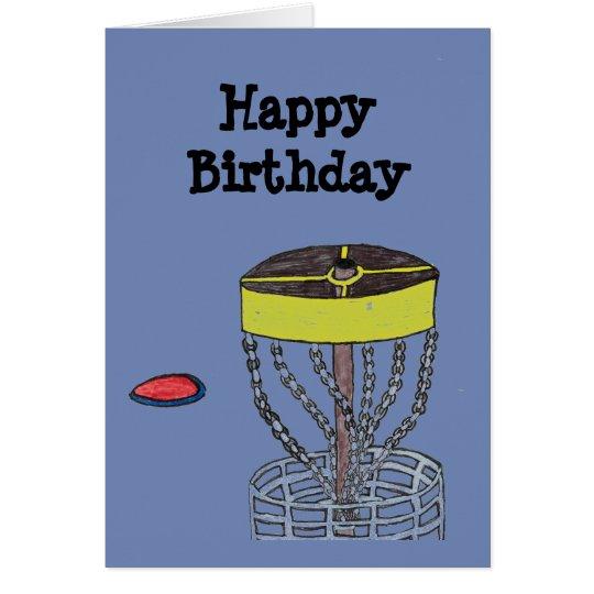Happy Birthday disc golf greeting card