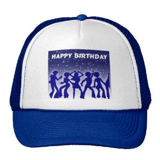 Happy Birthday Disco Dancers Cap