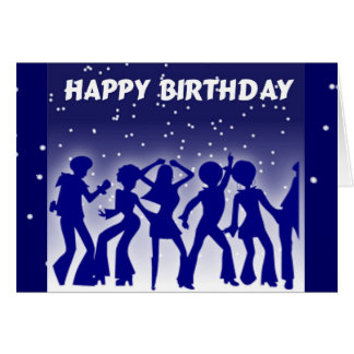 Happy Birthday Disco Dancers Card