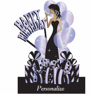 Happy Birthday Diva Girl | DIY Name | Tanzanite Standing Photo Sculpture
