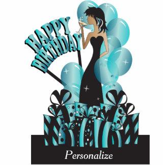 Happy Birthday Diva Girl | DIY Name | Turquoise Standing Photo Sculpture