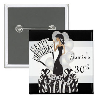 Happy Birthday Diva Girl | DIY Name | White 15 Cm Square Badge