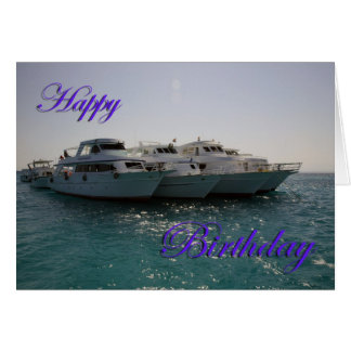 Happy Birthday Dive Boats Card