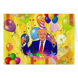 happy birthday donald trump card