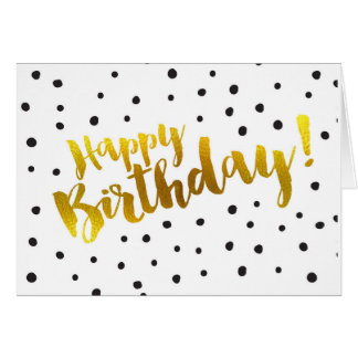 Happy Birthday - Dotted Greeting Card