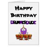 Happy Birthday Drummer Dude Cards