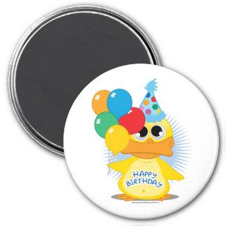 Happy Birthday Duck 7.5 Cm Round Magnet