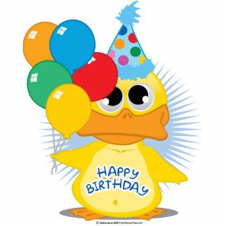 Happy Birthday Duck Standing Photo Sculpture
