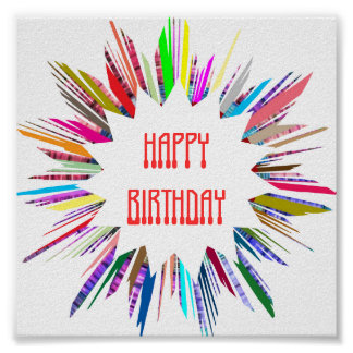 HAPPY BIRTHDAY  :  Edit text to your own OCCASION Poster