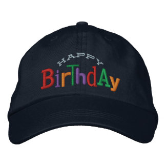 Happy Birthday Embroidery Hat
