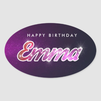 Happy Birthday Emma Sticker