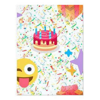happy birthday emoji card
