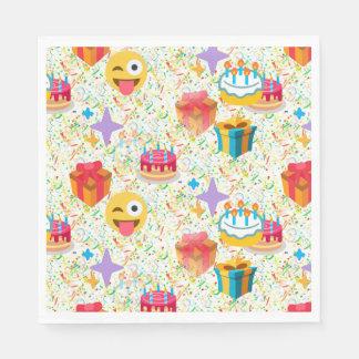 happy birthday emoji napkins paper napkins