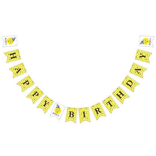Happy Birthday Emoji Sign Bunting