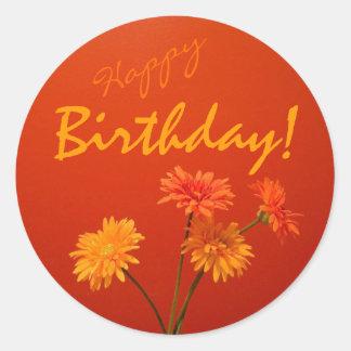 Happy Birthday Envelope Seals Round Sticker