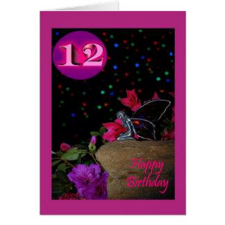 Happy Birthday fairy faerie 12 12th twelve twelfth Card