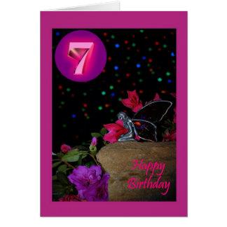 Happy Birthday fairy faerie 7th seventh 7 Card