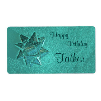 Happy Birthday Father Gift Tag Shipping Label