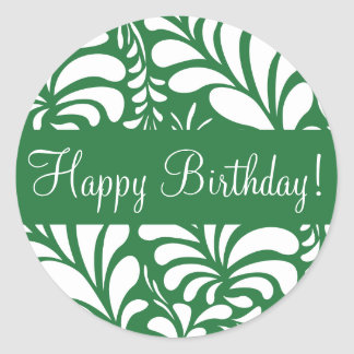 Happy Birthday Fern Flora Envelope Sticker Seal