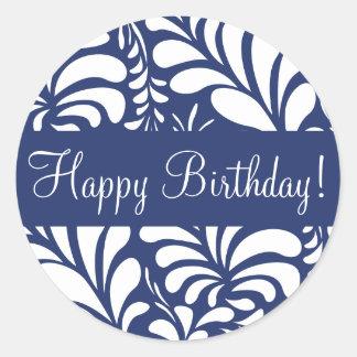 Happy Birthday Fern Flora Envelope Sticker Seal