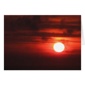 Happy Birthday - Fiery Sunset Greeting Card