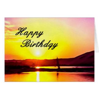 Happy Birthday Fine Art Sailing Card. Card
