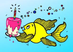 Happy Birthday Fish Gifts On Zazzle AU