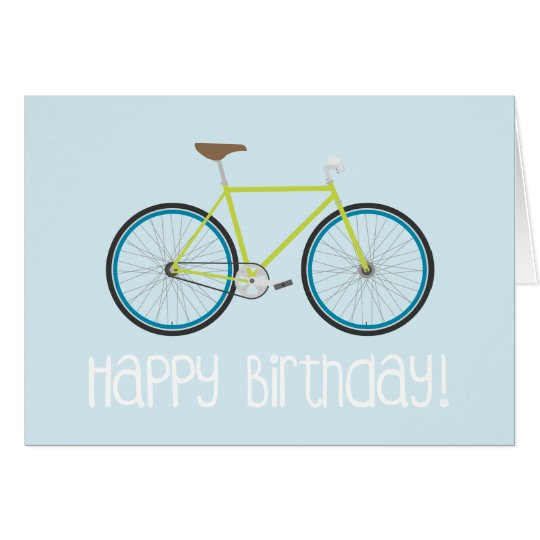 Happy Birthday Fixie Card