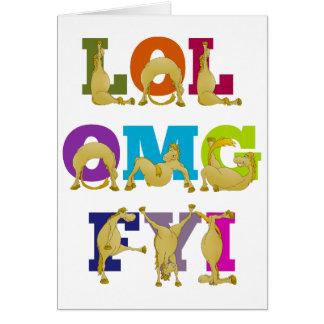 Happy Birthday Flexi pony LOL FYI OMG Card