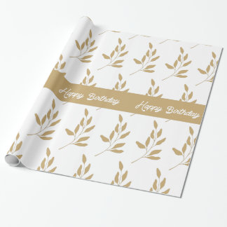 Happy Birthday Floral Print Wrapping Paper