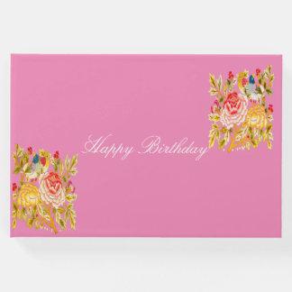Happy Birthday flower Guest Book
