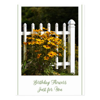Happy Birthday Flowers Just for You Postcard