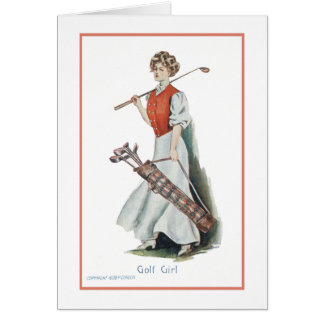 Happy Birthday for a Woman Golfer Note Card