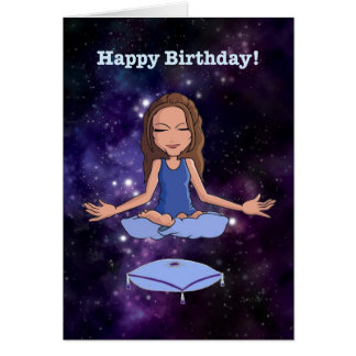 "Happy Birthday (for an ""en-lightened"" woman) Card"