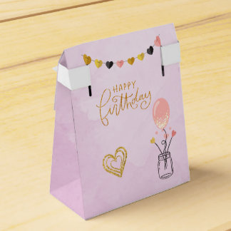 Happy Birthday for Her Wedding Favour Boxes
