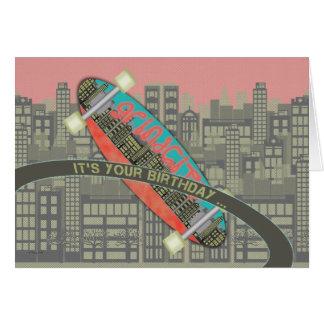 Happy Birthday for Skater Skateboard Shred It Card