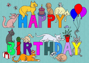 Happy Birthday For The Cat Lover Card