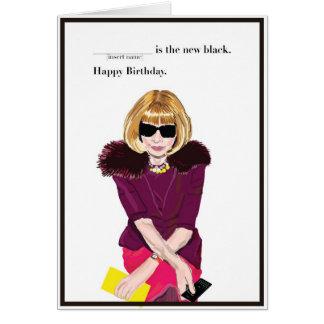 Happy Birthday for the Fashionista Card