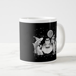 Happy Birthday Frankie (black&white) coffee mug