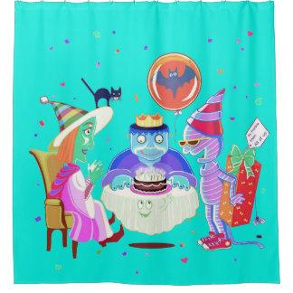 Happy birthday Frankie (color) curtain/ backdrop Shower Curtain