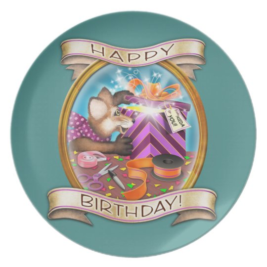Happy Birthday - Frieda Tails collectable plate