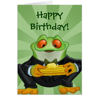 Happy Birthday frog greeting card