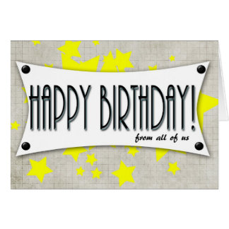happy birthday from all of us generic card