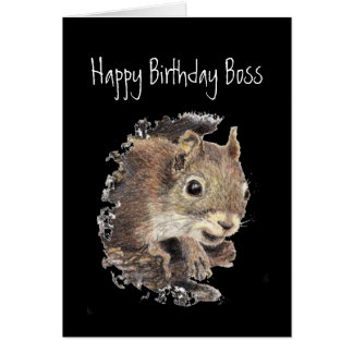 Happy Birthday,From all us assorted Nuts -Squirrel Card