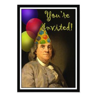 Happy Birthday  From Ben Franklin 13 Cm X 18 Cm Invitation Card